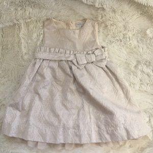 4/$20 Baby Gap Silver & Beige Formal Dress